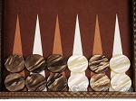 picture of Hector Saxe Cosmos Linen Backgammon Set - Brown (8 of 12)