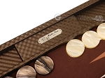 picture of Hector Saxe Cosmos Linen Backgammon Set - Brown (9 of 12)
