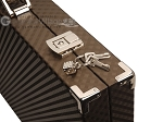 picture of Hector Saxe Cosmos Linen Backgammon Set - Brown (12 of 12)