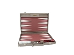 Hector Saxe Cosmos Linen Backgammon Set - Taupe - Item: 3882