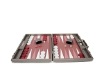 picture of Hector Saxe Cosmos Linen Backgammon Set - Taupe (4 of 6)