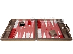picture of Hector Saxe Cosmos Linen Backgammon Set - Taupe (4 of 12)