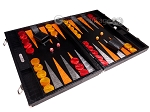 picture of Hector Saxe Croco Leather Backgammon Set - Black - Oriflamme I (2 of 12)