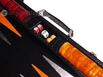 picture of Hector Saxe Croco Leather Backgammon Set - Black - Oriflamme I (8 of 12)