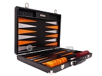 picture of Hector Saxe Croco Leather Backgammon Set - Black - Oriflamme I (10 of 12)