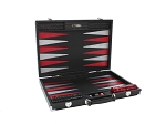 Hector Saxe Braided Leather Backgammon Set - Black
