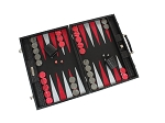 picture of Hector Saxe Braided Leather Backgammon Set - Black (2 of 6)