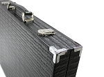 picture of Hector Saxe Braided Leather Backgammon Set - Black (6 of 6)