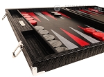 picture of Hector Saxe Braided Leather Backgammon Set - Black (5 of 12)