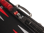 picture of Hector Saxe Braided Leather Backgammon Set - Black (7 of 12)