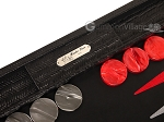 picture of Hector Saxe Braided Leather Backgammon Set - Black (9 of 12)