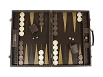 picture of Hector Saxe Braided Leather Backgammon Set - Moka (2 of 6)