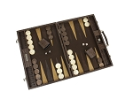 picture of Hector Saxe Braided Leather Backgammon Set - Moka (3 of 6)