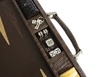 picture of Hector Saxe Braided Leather Backgammon Set - Moka (4 of 6)