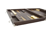 picture of Hector Saxe Braided Leather Backgammon Set - Moka (5 of 6)