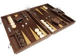 picture of Hector Saxe Braided Leather Backgammon Set - Moka (2 of 12)