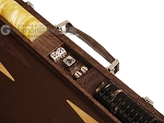 picture of Hector Saxe Braided Leather Backgammon Set - Moka (7 of 12)