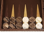 picture of Hector Saxe Braided Leather Backgammon Set - Moka (8 of 12)