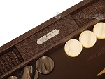 picture of Hector Saxe Braided Leather Backgammon Set - Moka (9 of 12)