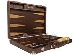 picture of Hector Saxe Braided Leather Backgammon Set - Moka (10 of 12)