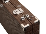 Hector Saxe Braided Leather Backgammon Set - Moka