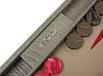 picture of Hector Saxe Braided Leather Backgammon Set - Taupe (3 of 6)