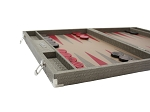 picture of Hector Saxe Braided Leather Backgammon Set - Taupe (5 of 6)
