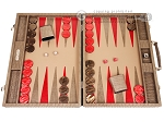picture of Hector Saxe Braided Leather Backgammon Set - Taupe (1 of 12)
