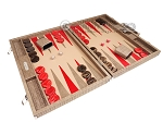 picture of Hector Saxe Braided Leather Backgammon Set - Taupe (2 of 12)