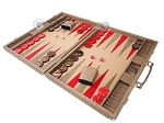 picture of Hector Saxe Braided Leather Backgammon Set - Taupe (3 of 12)