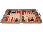 picture of Hector Saxe Braided Leather Backgammon Set - Taupe (4 of 12)