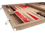 picture of Hector Saxe Braided Leather Backgammon Set - Taupe (5 of 12)