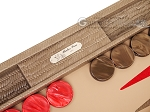 picture of Hector Saxe Braided Leather Backgammon Set - Taupe (9 of 12)