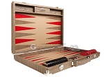 picture of Hector Saxe Braided Leather Backgammon Set - Taupe (10 of 12)
