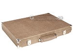picture of Hector Saxe Braided Leather Backgammon Set - Taupe (11 of 12)