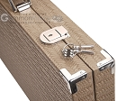 picture of Hector Saxe Braided Leather Backgammon Set - Taupe (12 of 12)