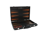 Hector Saxe Arizona Leather Backgammon Set - Black