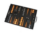 picture of Hector Saxe Arizona Leather Backgammon Set - Black (2 of 6)