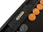 picture of Hector Saxe Arizona Leather Backgammon Set - Black (3 of 6)
