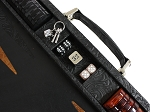 picture of Hector Saxe Arizona Leather Backgammon Set - Black (4 of 6)