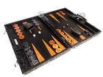 picture of Hector Saxe Arizona Leather Backgammon Set - Black (2 of 12)