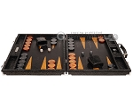 picture of Hector Saxe Arizona Leather Backgammon Set - Black (4 of 12)