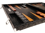 picture of Hector Saxe Arizona Leather Backgammon Set - Black (5 of 12)