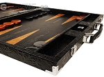 picture of Hector Saxe Arizona Leather Backgammon Set - Black (6 of 12)