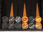 picture of Hector Saxe Arizona Leather Backgammon Set - Black (8 of 12)