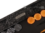 picture of Hector Saxe Arizona Leather Backgammon Set - Black (9 of 12)