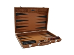 Hector Saxe Arizona Leather Backgammon Set - Cognac - Item: 3227