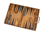picture of Hector Saxe Arizona Leather Backgammon Set - Cognac (2 of 6)
