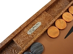 picture of Hector Saxe Arizona Leather Backgammon Set - Cognac (3 of 6)