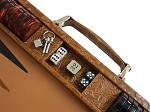 picture of Hector Saxe Arizona Leather Backgammon Set - Cognac (4 of 6)